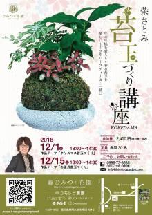 【受講者募集】柴さとみ苔玉レッスン(12/1&12/15)